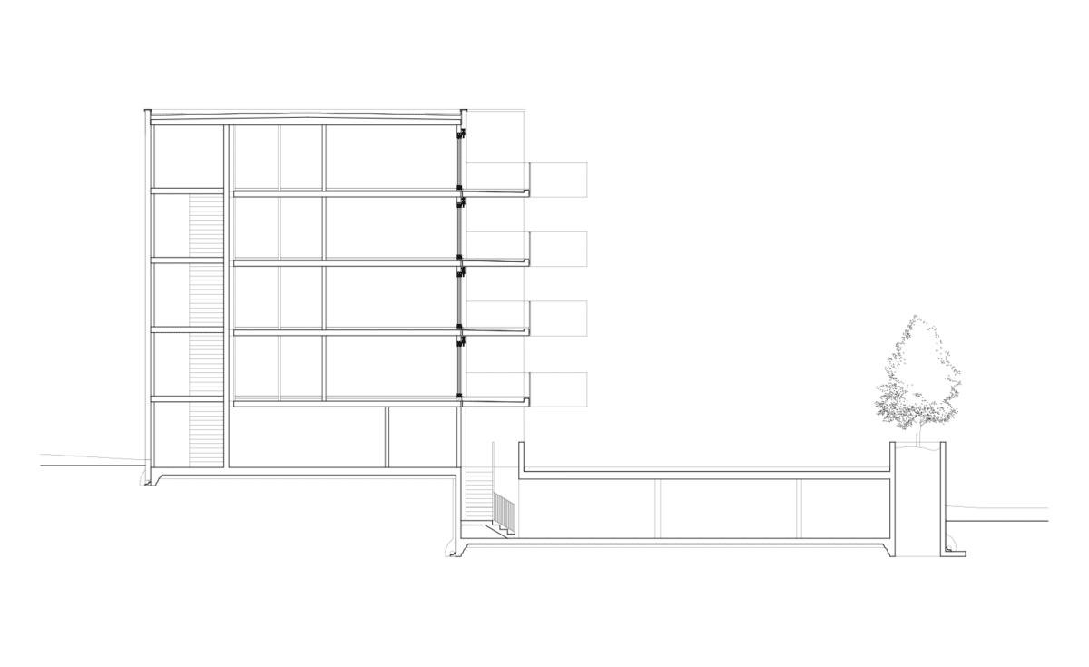 Côte à côte – 9 appartements en PPE contre un bâtiment de taille, La Chaux-de-Fonds