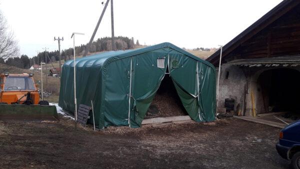 Couvert à bois – Abri pour combustible en zone agricole sur site protégé au patrimoine, Le bas Monsieur