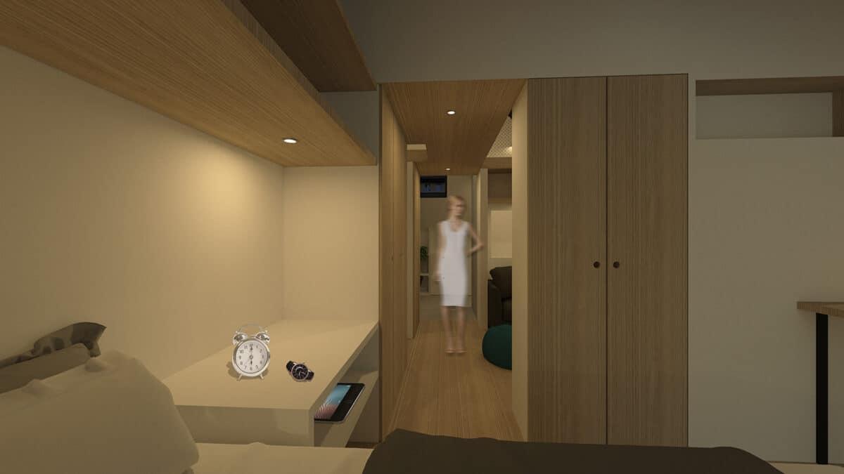 Habitat Minimal – De l'atelier et vieux grenier à la tiny house, La Chaux-de-Fonds – Corridor