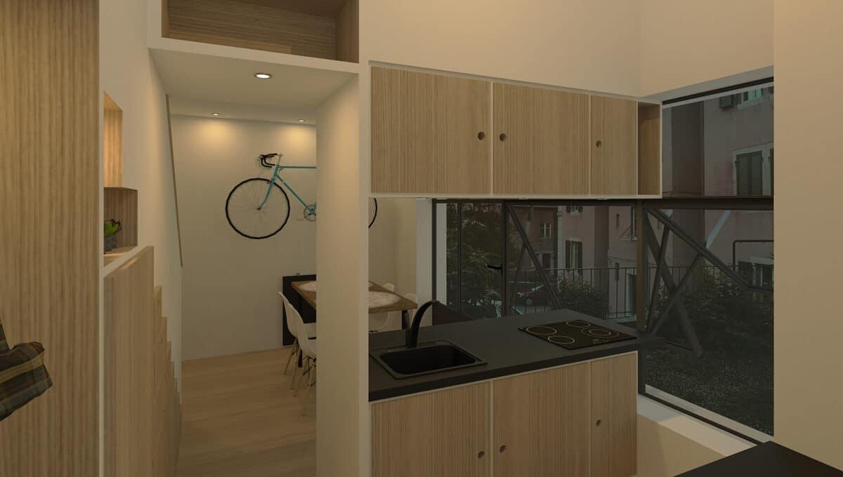 Habitat Minimal – De l'atelier et vieux grenier à la tiny house, La Chaux-de-Fonds – Entrée