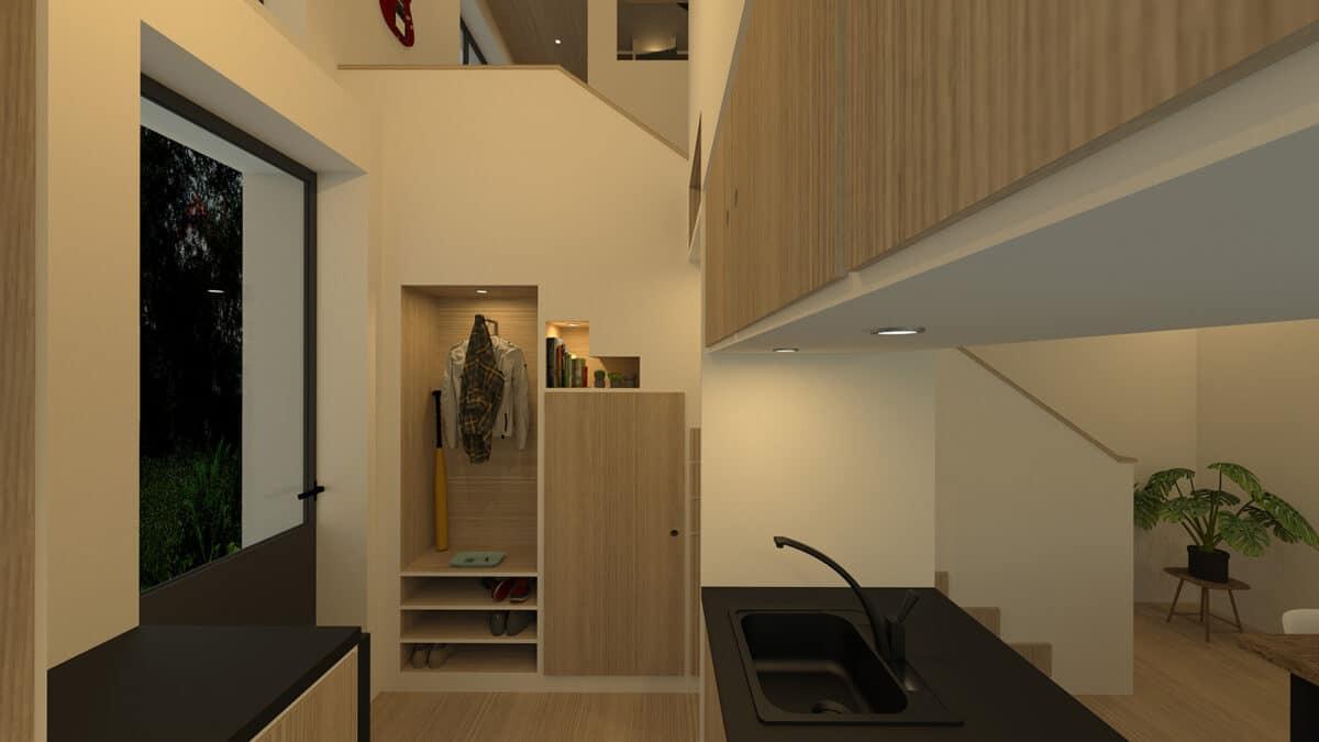 Habitat Minimal – De l'atelier et vieux grenier à la tiny house, La Chaux-de-Fonds – Porte manteaux