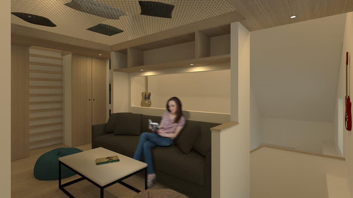 Habitat Minimal – De l'atelier et vieux grenier à la tiny house, La Chaux-de-Fonds – Salon