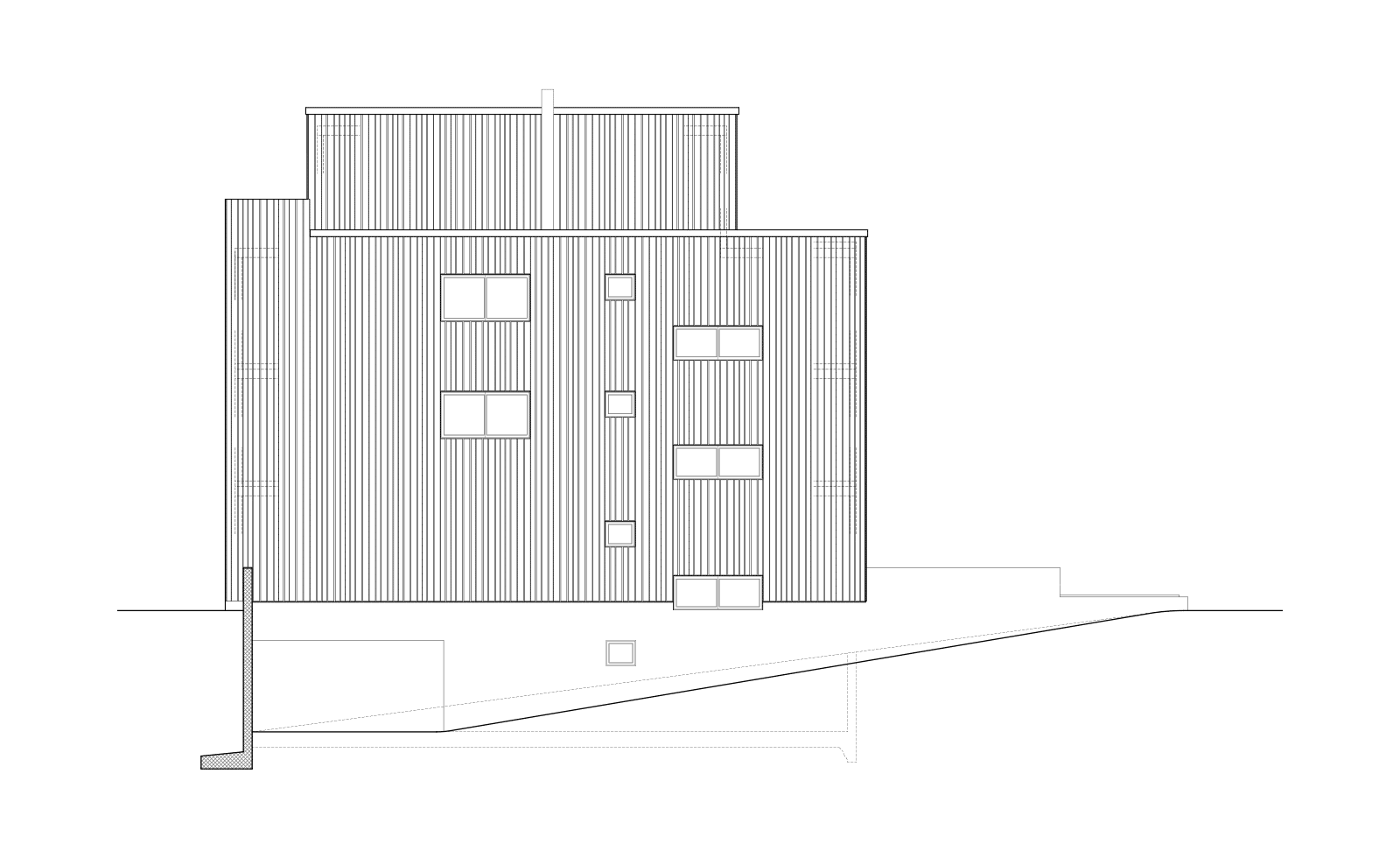 Immeuble pour un ramoneur –Entreprise de ramonage et logements PPE, La Chaux-de-Fonds