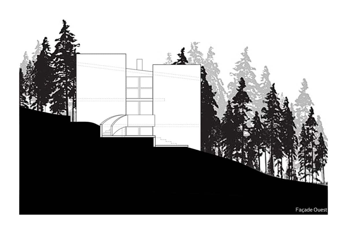 Le plus grand tronc de la forêt – Création d'une villa ronde au milieu des arbres, La Chaux-de-Fonds